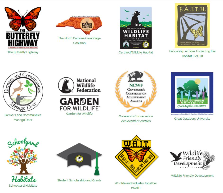 Image of all NCWF program logos