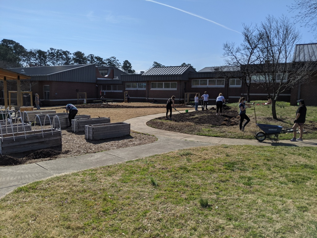 SWC working on gardens at Millbrook Elementary
