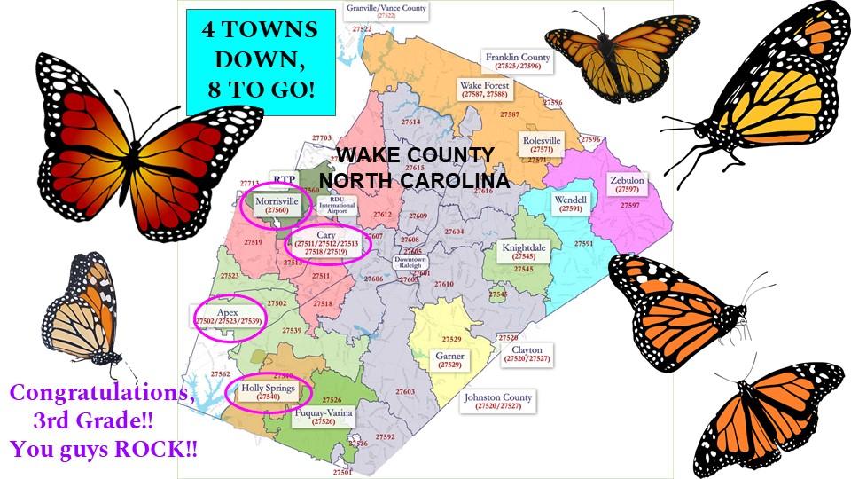 Monarch Pledge Map in Wake County