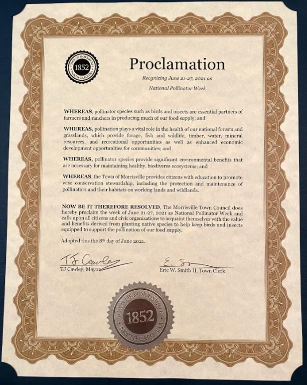 Morrisville Mayor Proclamation